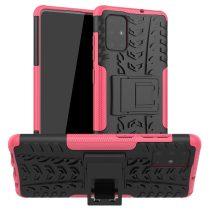 RMPACK Samsung Galaxy A71 Ütésálló Tok Kitámasztható 2in1 Hybrid Pink