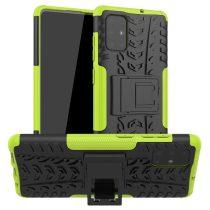 RMPACK Samsung Galaxy A71 Ütésálló Tok Kitámasztható 2in1 Hybrid Zöld