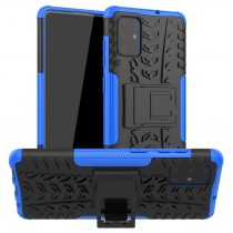 RMPACK Samsung Galaxy A71 Ütésálló Tok Kitámasztható 2in1 Hybrid Kék