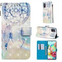 RMPACK Samsung Galaxy A71 Tok Bankkártyatartóval Notesz Mintás Kitámasztható -RMPACK- Life&Dreams LD01