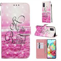 RMPACK Samsung Galaxy A71 Tok Bankkártyatartóval Notesz Mintás Kitámasztható -RMPACK- Life&Dreams LD07