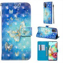 RMPACK Samsung Galaxy A71 Tok Bankkártyatartóval Notesz Mintás Kitámasztható -RMPACK- Life&Dreams LD09