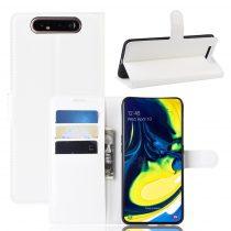 RMPACK Samsung Galaxy A80 Notesz Tok Business Series Kitámasztható Bankkártyatartóval Fehér