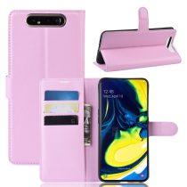 RMPACK Samsung Galaxy A80 Notesz Tok Business Series Kitámasztható Bankkártyatartóval Rózsaszín