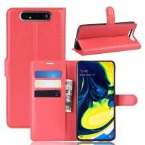 RMPACK Samsung Galaxy A80 Notesz Tok Business Series Kitámasztható Bankkártyatartóval Piros