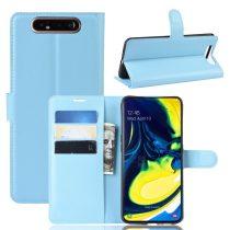 RMPACK Samsung Galaxy A80 Notesz Tok Business Series Kitámasztható Bankkártyatartóval Világoskék