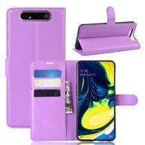 RMPACK Samsung Galaxy A80 Notesz Tok Business Series Kitámasztható Bankkártyatartóval Lila