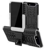 RMPACK Samsung Galaxy A80 Ütésálló Tok Kitámasztható 2in1 Hybrid Fehér