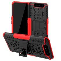 RMPACK Samsung Galaxy A80 Ütésálló Tok Kitámasztható 2in1 Hybrid Piros