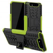 RMPACK Samsung Galaxy A80 Ütésálló Tok Kitámasztható 2in1 Hybrid Zöld