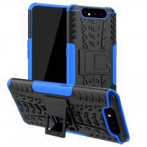 RMPACK Samsung Galaxy A80 Ütésálló Tok Kitámasztható 2in1 Hybrid Kék