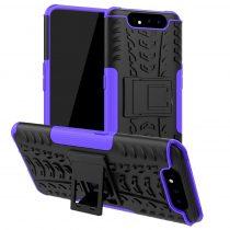 RMPACK Samsung Galaxy A80 Ütésálló Tok Kitámasztható 2in1 Hybrid Lila