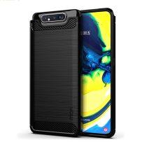 RMPACK Samsung Galaxy A80 Ütésálló Tok Kitámasztható 2in1 Hybrid Fekete