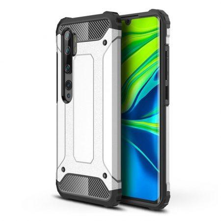 RMPACK Xiaomi Mi Note 10 / Note 10 Pro Ütésálló Armor Tok Guard Series 2in1 Ezüst