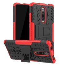 RMPACK Xiaomi Mi 9T Mi 9T Pro Ütésálló Tok Kitámasztható 2in1 Hybrid Piros