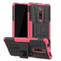 RMPACK Xiaomi Mi 9T Mi 9T Pro Ütésálló Tok Kitámasztható 2in1 Hybrid Pink