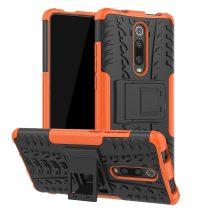 RMPACK Xiaomi Mi 9T Mi 9T Pro Ütésálló Tok Kitámasztható 2in1 Hybrid Narancssárga