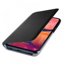 Samsung Galaxy A20e Gyári Tok Notesz Wallet Cover Fekete EF-WA202PBEGWW