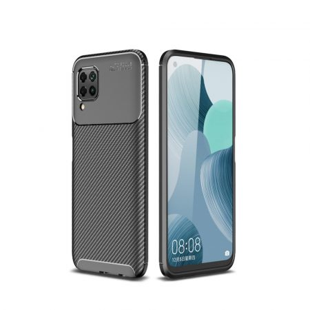 RMPACK Huawei P40 Lite Tok Szilikon TPU Ütésálló New Carbon Fekete