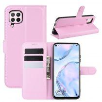 RMPACK Huawei P40 Lite Notesz Tok Business Series Kitámasztható Bankkártyatartóval Rózsaszín