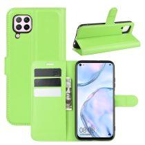 RMPACK Huawei P40 Lite Notesz Tok Business Series Kitámasztható Bankkártyatartóval Zöld