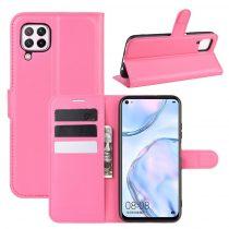 RMPACK Huawei P40 Lite Notesz Tok Business Series Kitámasztható Bankkártyatartóval Pink
