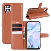 RMPACK Huawei P40 Lite Notesz Tok Business Series Kitámasztható Bankkártyatartóval Barna