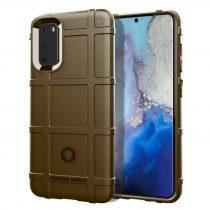 RMPACK Samsung Galaxy S20 Ütésálló Tok Anti-Shock Series Rugged Shield -RMPACK- Barna