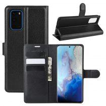 RMPACK Samsung Galaxy S20 Notesz Tok Business Series Kitámasztható Bankkártyatartóval Fekete