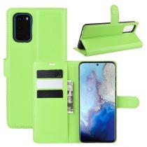 RMPACK Samsung Galaxy S20 Notesz Tok Business Series Kitámasztható Bankkártyatartóval Zöld
