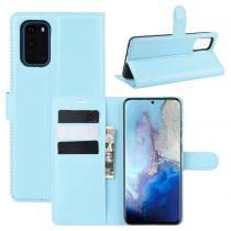 RMPACK Samsung Galaxy S20 Notesz Tok Business Series Kitámasztható Bankkártyatartóval Világoskék