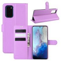 RMPACK Samsung Galaxy S20 Notesz Tok Business Series Kitámasztható Bankkártyatartóval Lila