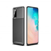 RMPACK Samsung Galaxy S20 Tok Szilikon TPU Ütésálló New Carbon Fekete