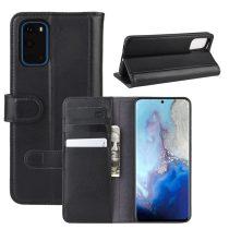 RMPACK Samsung Galaxy S20 Bőrtok Notesz Kártyatartóval Kitámasztható Fekete
