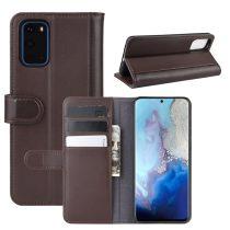 RMPACK Samsung Galaxy S20 Bőrtok Notesz Kártyatartóval Kitámasztható Barna