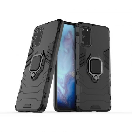 RMPACK Samsung Galaxy S20 Ütésálló Tok Ring Armor 2in1 TPU Hybrid Fekete