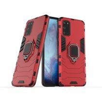 RMPACK Samsung Galaxy S20 Ütésálló Tok Ring Armor 2in1 TPU Hybrid Piros