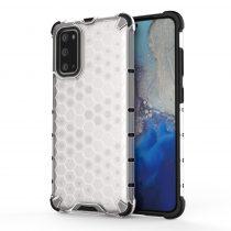 RMPACK Samsung Galaxy S20 Shock-Proof Szilikon Tok Ütésálló Kivitel Honeycomb Style Fehér