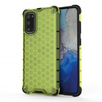 RMPACK Samsung Galaxy S20 Shock-Proof Szilikon Tok Ütésálló Kivitel Honeycomb Style Zöld