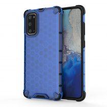 RMPACK Samsung Galaxy S20 Shock-Proof Szilikon Tok Ütésálló Kivitel Honeycomb Style Sötékék