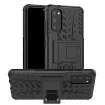 RMPACK Samsung Galaxy S20 Ütésálló Tok Kitámasztható 2in1 Hybrid Fekete
