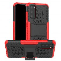 RMPACK Samsung Galaxy S20 Ütésálló Tok Kitámasztható 2in1 Hybrid Piros