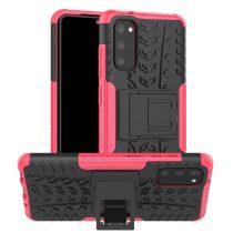 RMPACK Samsung Galaxy S20 Ütésálló Tok Kitámasztható 2in1 Hybrid Pink