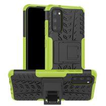 RMPACK Samsung Galaxy S20 Ütésálló Tok Kitámasztható 2in1 Hybrid Zöld