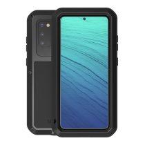 RMPACK Samsung Galaxy S20 Ütésálló LOVE MEI Tok Dust-proof Csepp-Por-Ütésálló Fekete