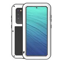 RMPACK Samsung Galaxy S20 Ütésálló LOVE MEI Tok Dust-proof Csepp-Por-Ütésálló Fehér