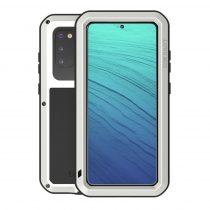 RMPACK Samsung Galaxy S20 Ütésálló LOVE MEI Tok Dust-proof Csepp-Por-Ütésálló Ezüst