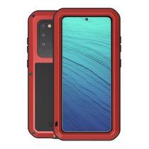 RMPACK Samsung Galaxy S20 Ütésálló LOVE MEI Tok Dust-proof Csepp-Por-Ütésálló Piros