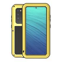RMPACK Samsung Galaxy S20 Ütésálló LOVE MEI Tok Dust-proof Csepp-Por-Ütésálló Sárga