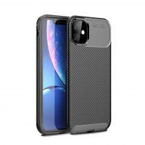 RMPACK iPhone 11 Tok TPU Szilikon Premium Karbon Mintával Fekete